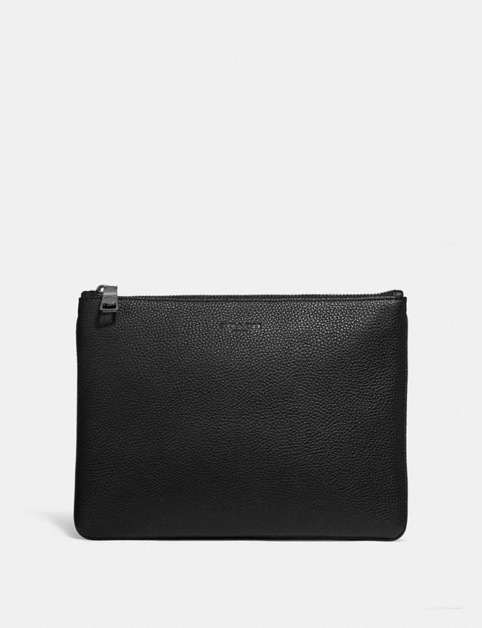 Coach Multifunctional Pouch Black Men Bags Pouches