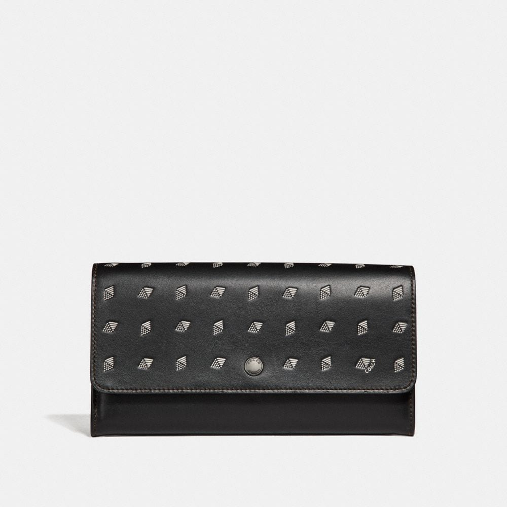 Coach Multifunctional Wallet With Dot Diamond Print