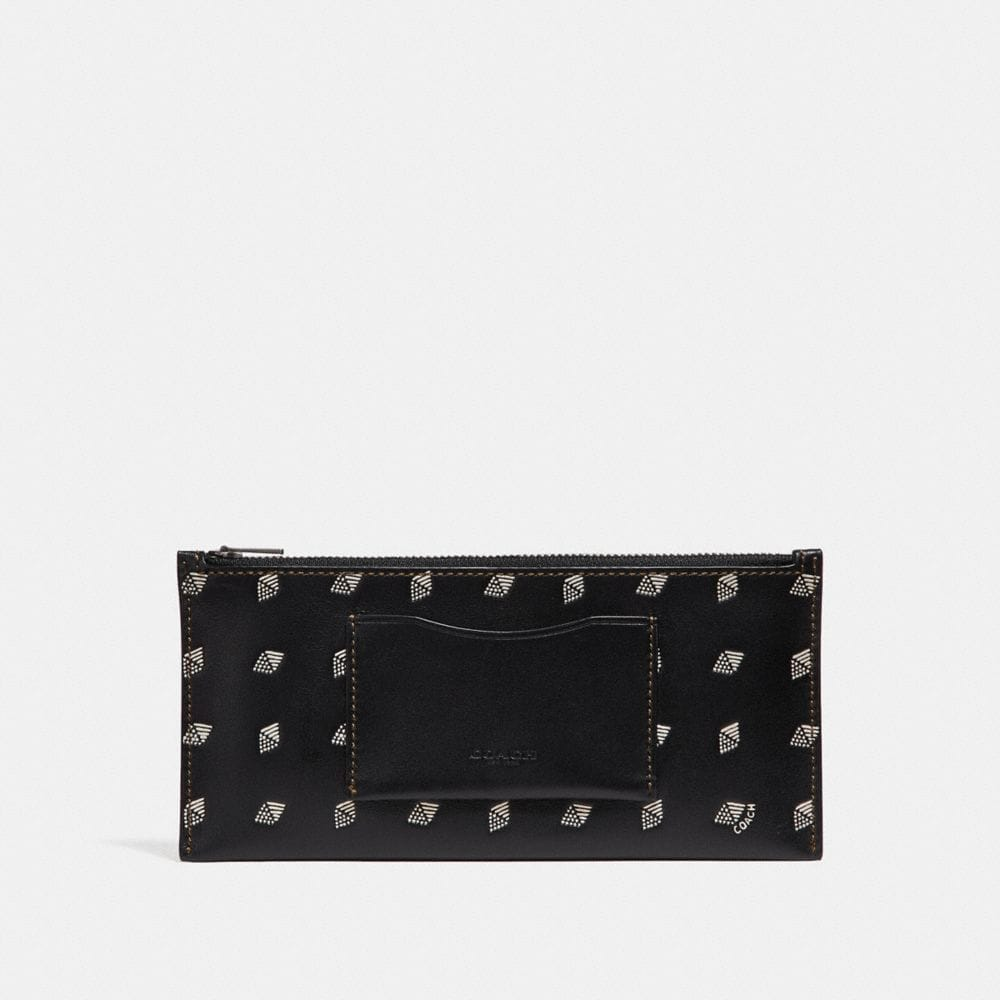 Coach Multifunctional Wallet With Dot Diamond Print Alternate View 3