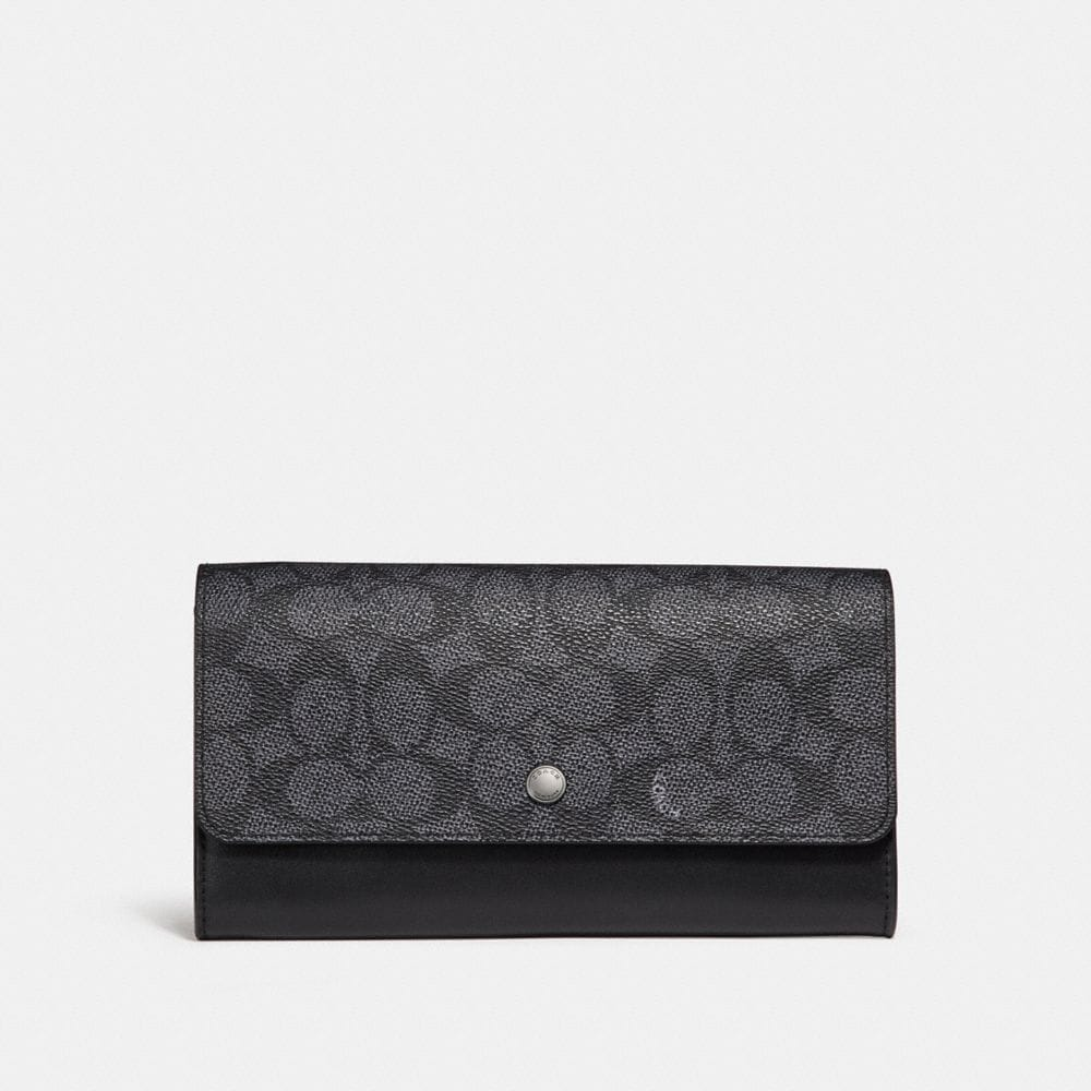 Coach Multifunctional Wallet in Signature Canvas