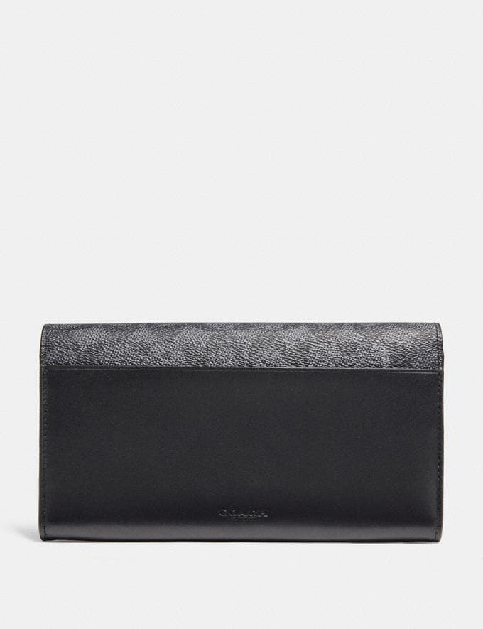 Coach Multifunctional Wallet in Signature Canvas Charcoal New Featured Signature Styles Alternate View 2