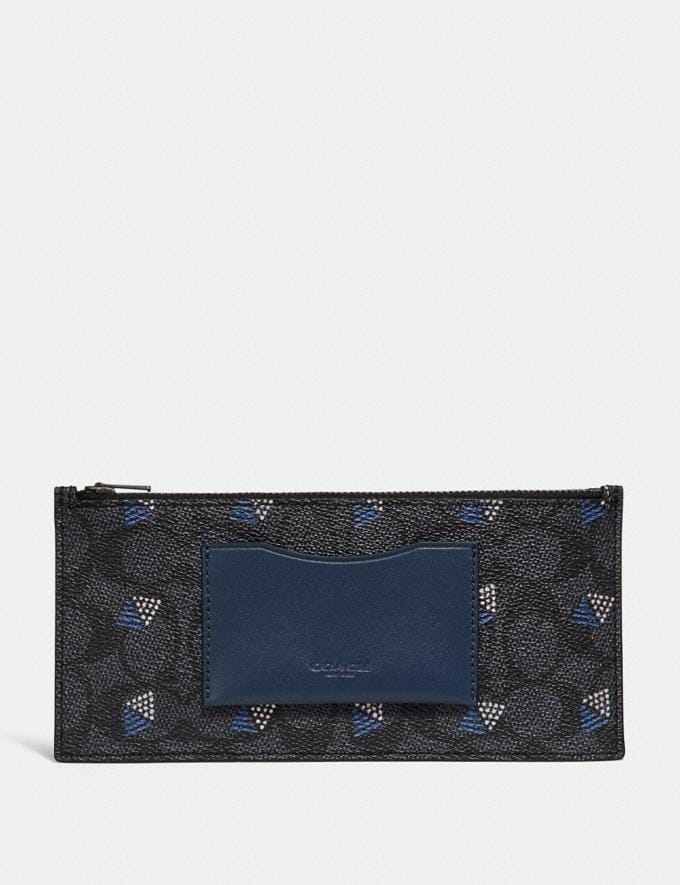 Coach Multifunctional Wallet in Signature Canvas Charcoal  Alternate View 4