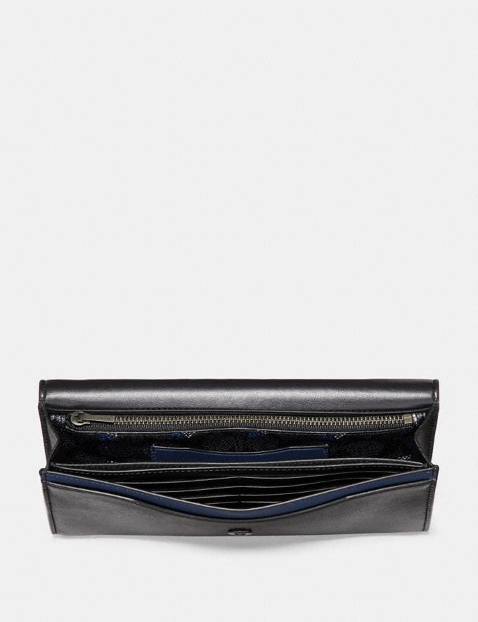 Coach Multifunctional Wallet in Signature Canvas Charcoal  Alternate View 3