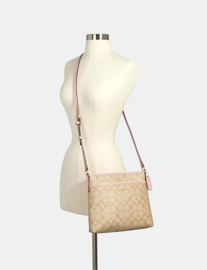 Coach File Crossbody in Signature Canvas Im/Light Khaki Blossom Under $99 Under $99 Alternate View 2