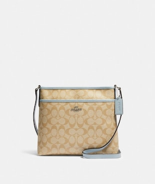 FILE CROSSBODY IN SIGNATURE CANVAS