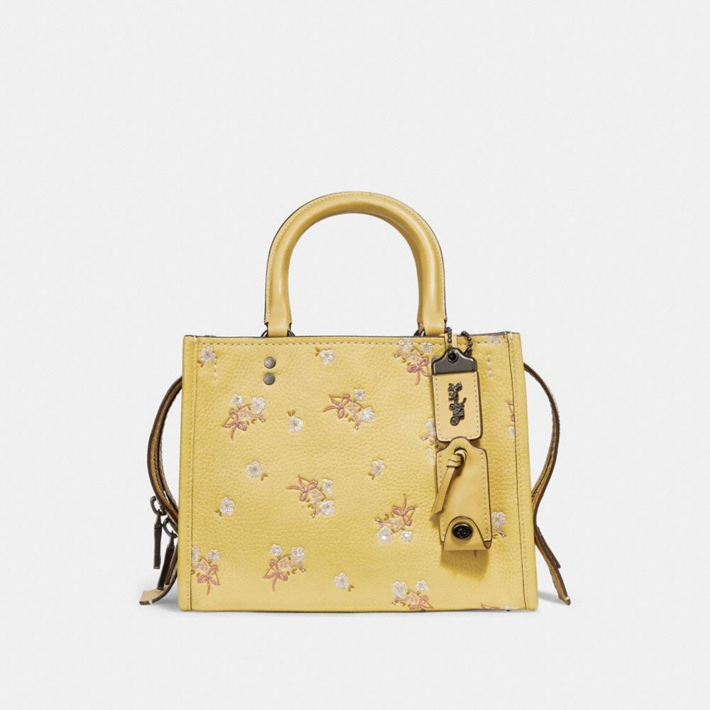 Coach Rogue 25 With Sequins Floral Bow Print