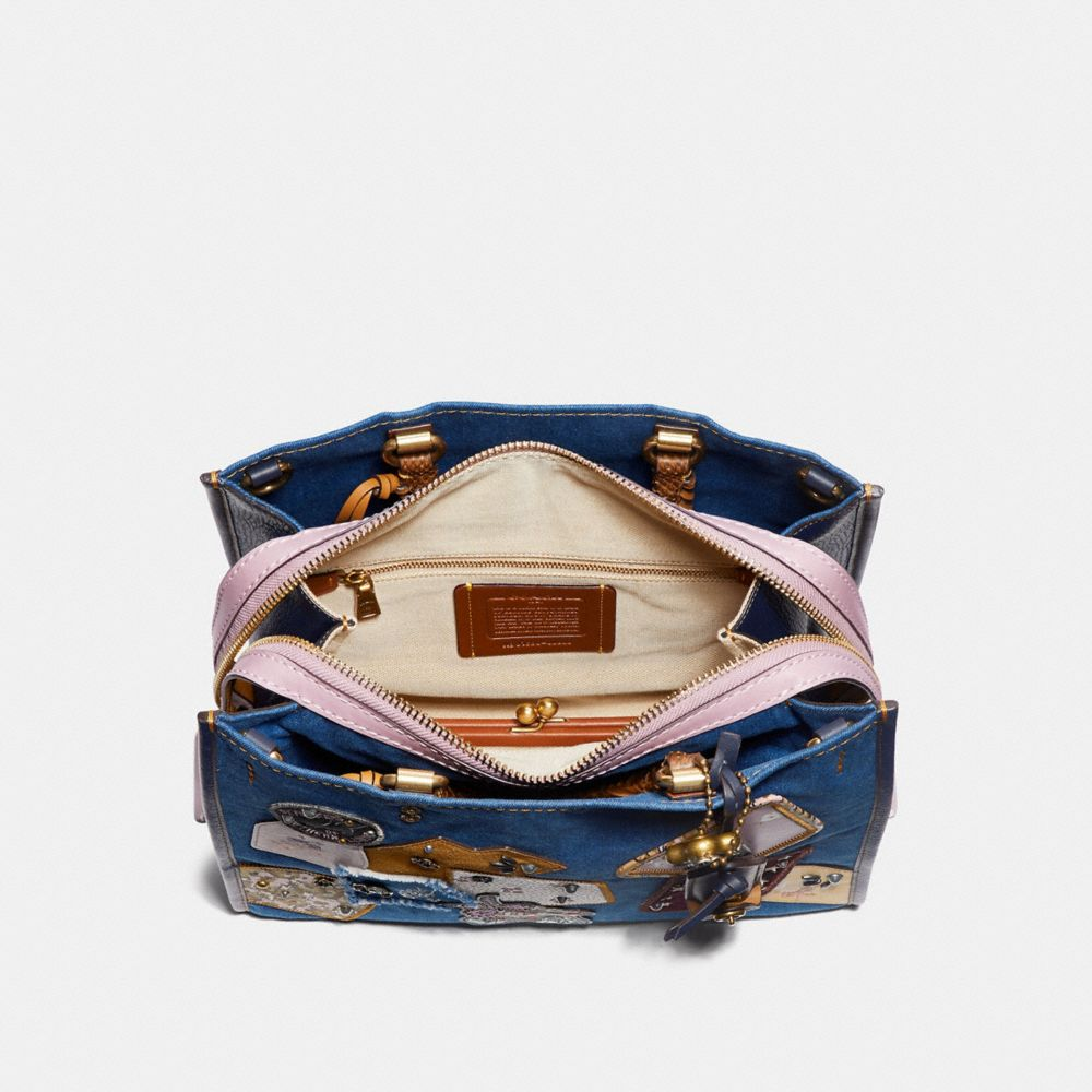 Coach Rogue With Patchwork and Snakeskin Handles Alternate View 2