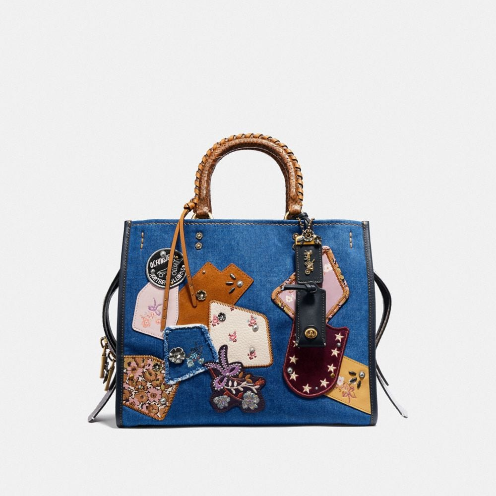 Coach Rogue With Patchwork and Snakeskin Handles