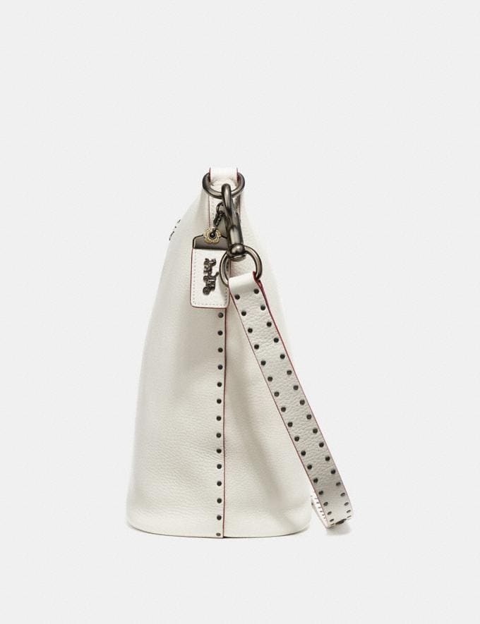 Coach Duffle With Rivets Heather Grey/Black Copper SALE Women's Sale New to Sale New to Sale Alternate View 1