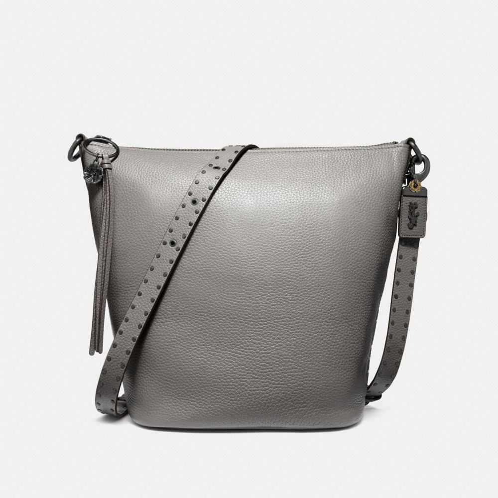 Coach Duffle in Natural Pebble Leather With Border Rivets