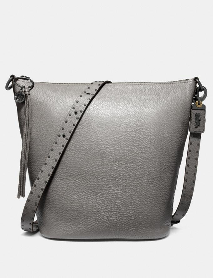 Coach Duffle With Rivets Heather Grey/Black Copper SALE Women's Sale New to Sale New to Sale