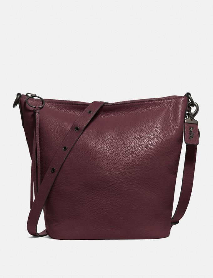 Coach Duffle Oxblood/Black Copper Women Bags