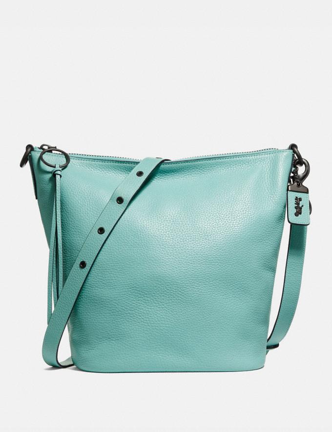 Coach Duffle Light Turquoise/Black Copper Women Bags Crossbody Bags