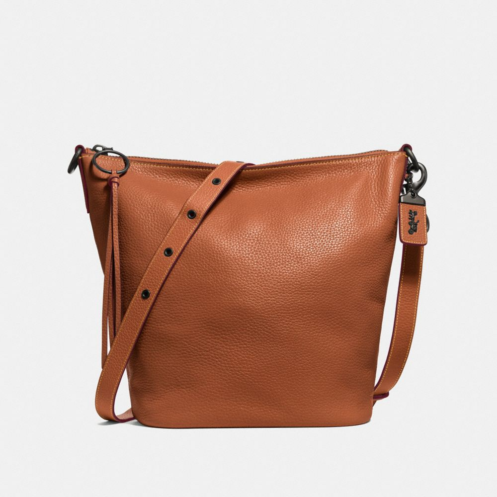 Hobo Bags - Polished Leather Clarkson Hobo Bag Saddle - cognac - Hobo Bags for ladies Coach