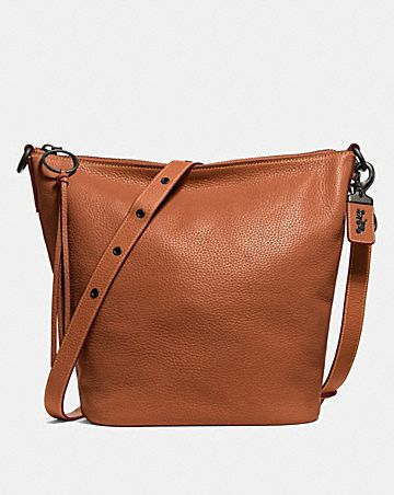Hobo Bags - Polished Leather Clarkson Hobo Bag Saddle - cognac - Hobo Bags for ladies Coach Yo2H4TvNn0