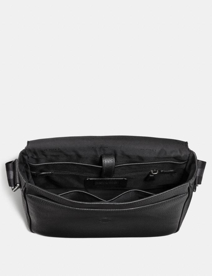 Coach Metropolitan Map Bag Black/Black Antique Nickel SALE Men's Sale Alternate View 2
