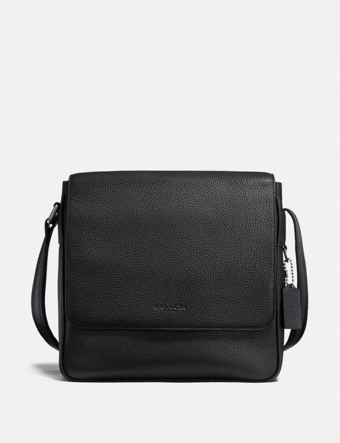 Coach Metropolitan Map Bag Black/Black Antique Nickel SALE Men's Sale