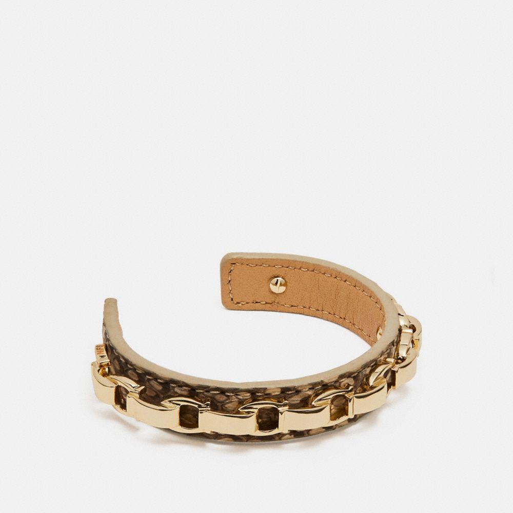 snakeskin signature cuff