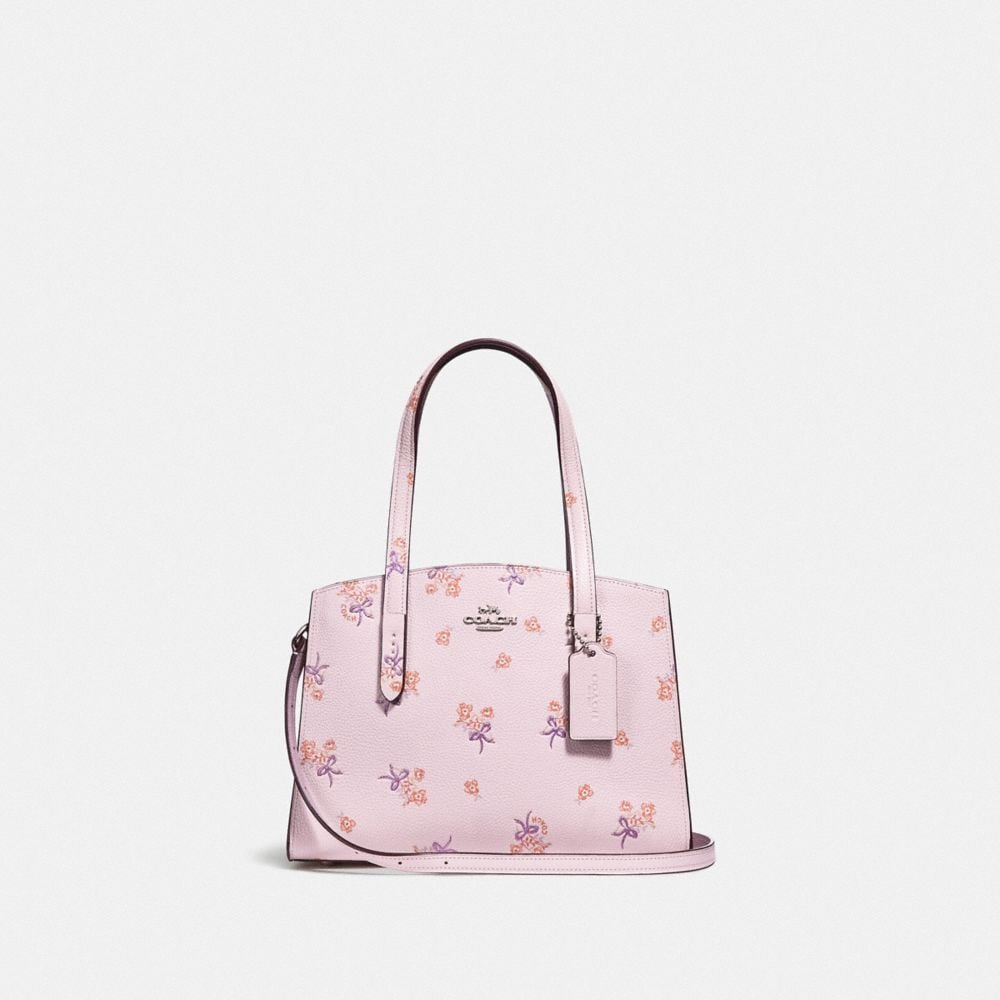 Coach Charlie Carryall 28 With Floral Bow Print