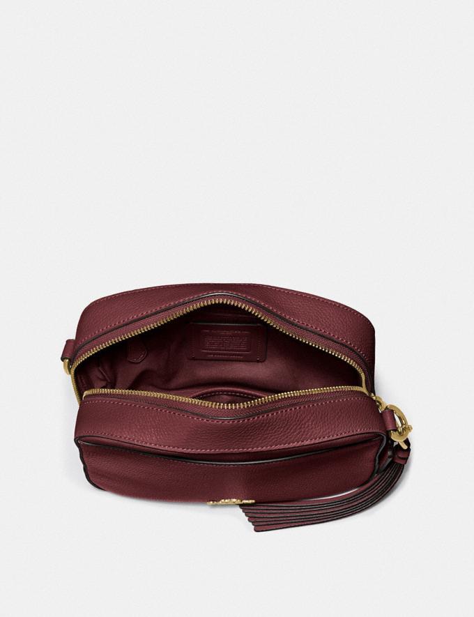 Coach Camera Bag Gd/Wine Women Bags Crossbody Bags Alternate View 2