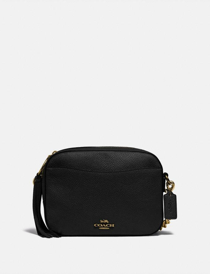 Coach Camera Bag Black/Light Gold New Women's New Arrivals