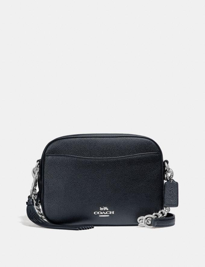 Coach Camera Bag Silver/Midnight Navy Cyber Monday