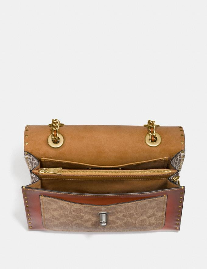 Coach Parker With Rivets and Snakeskin Detail Black Copper/Beechwood Multi Gifts For Her Bestsellers Alternate View 2