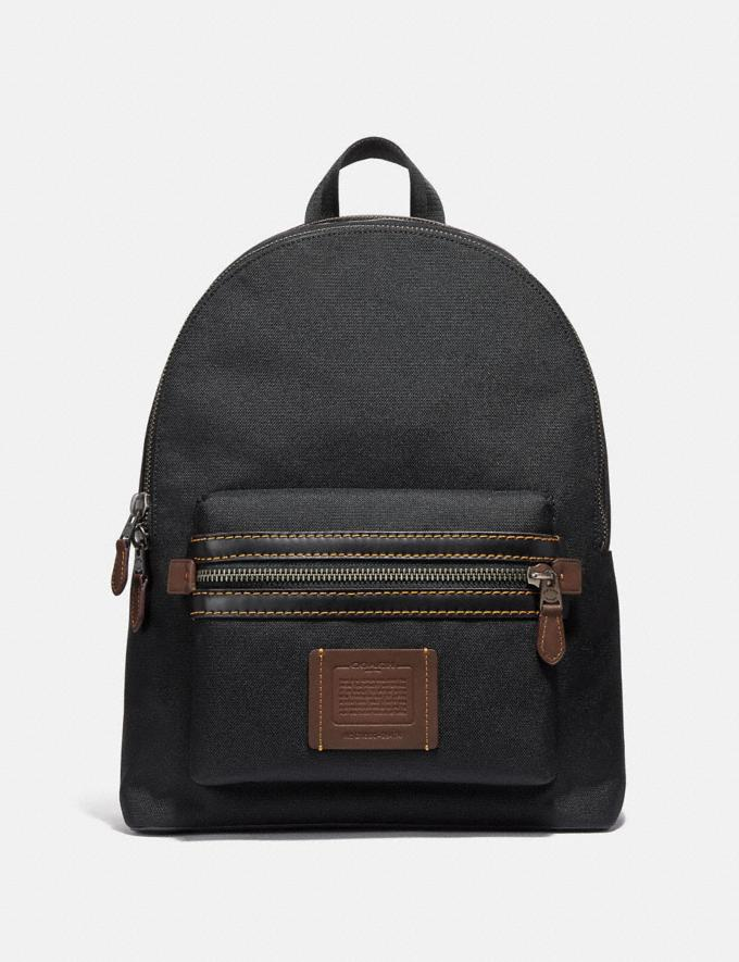 Coach Academy Backpack Black/Black Copper Finish Men Bags Backpacks