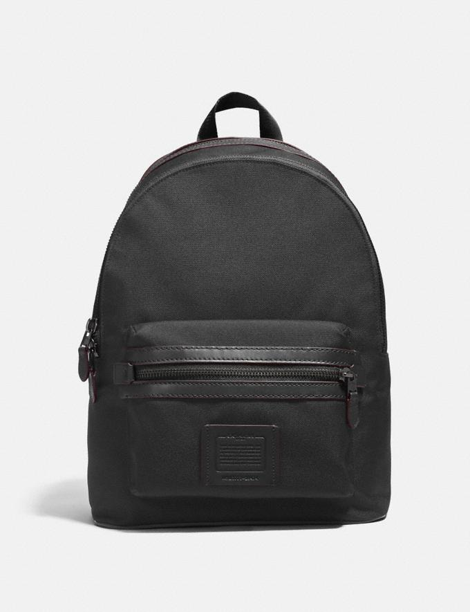 Coach Academy Backpack Black/Matte Black Men Bags Backpacks
