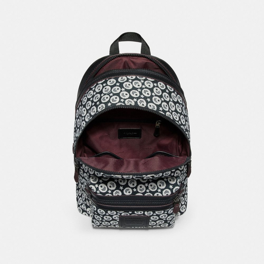 Coach Academy Backpack With Chevron Star Print Alternate View 2