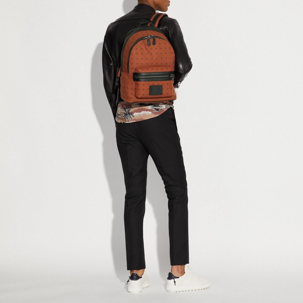 Coach Academy Backpack With Dot Diamond Print Alternate View 3