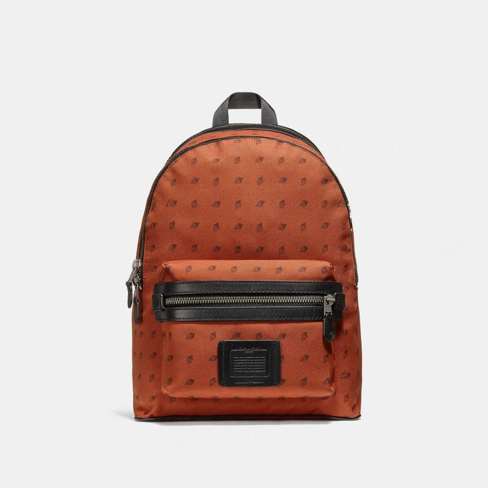 academy backpack with dot diamond print | Tuggl