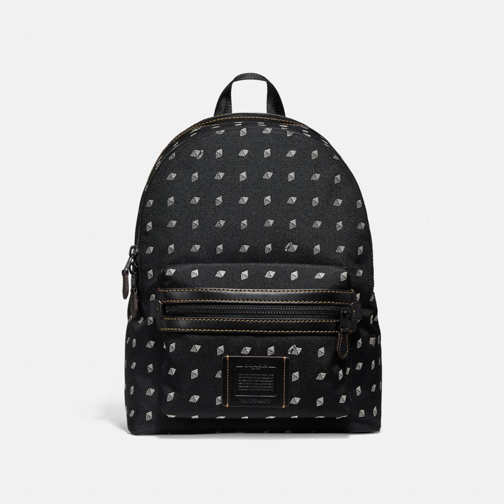 academy backpack with dot diamond print