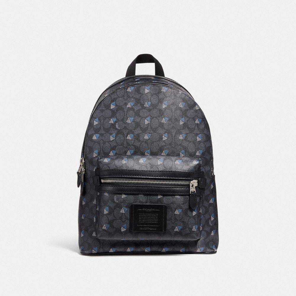 academy backpack in signature canvas with dot diamond print