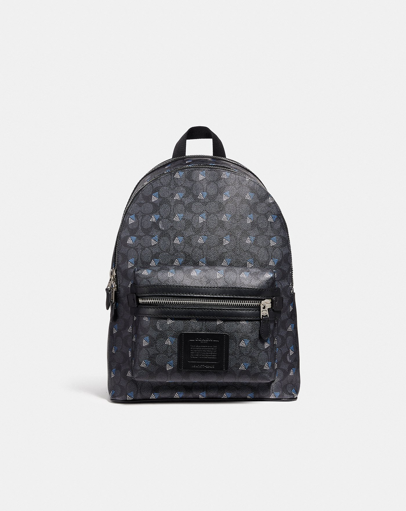 39e8607c59f8 COACH  Academy Backpack in Signature Canvas With Dot Diamond Print