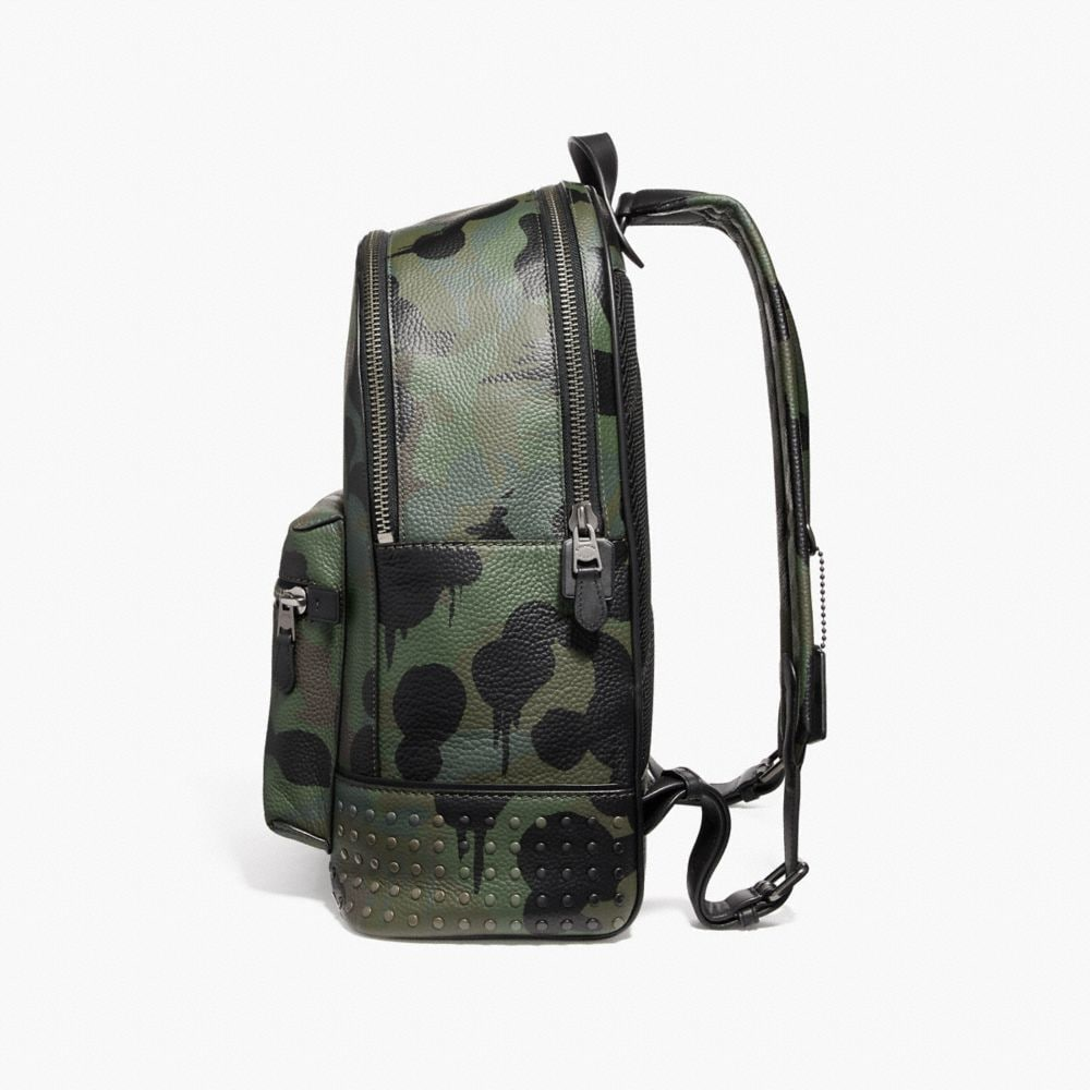 Coach League Backpack With Wild Beast Print and Studs Alternate View 1