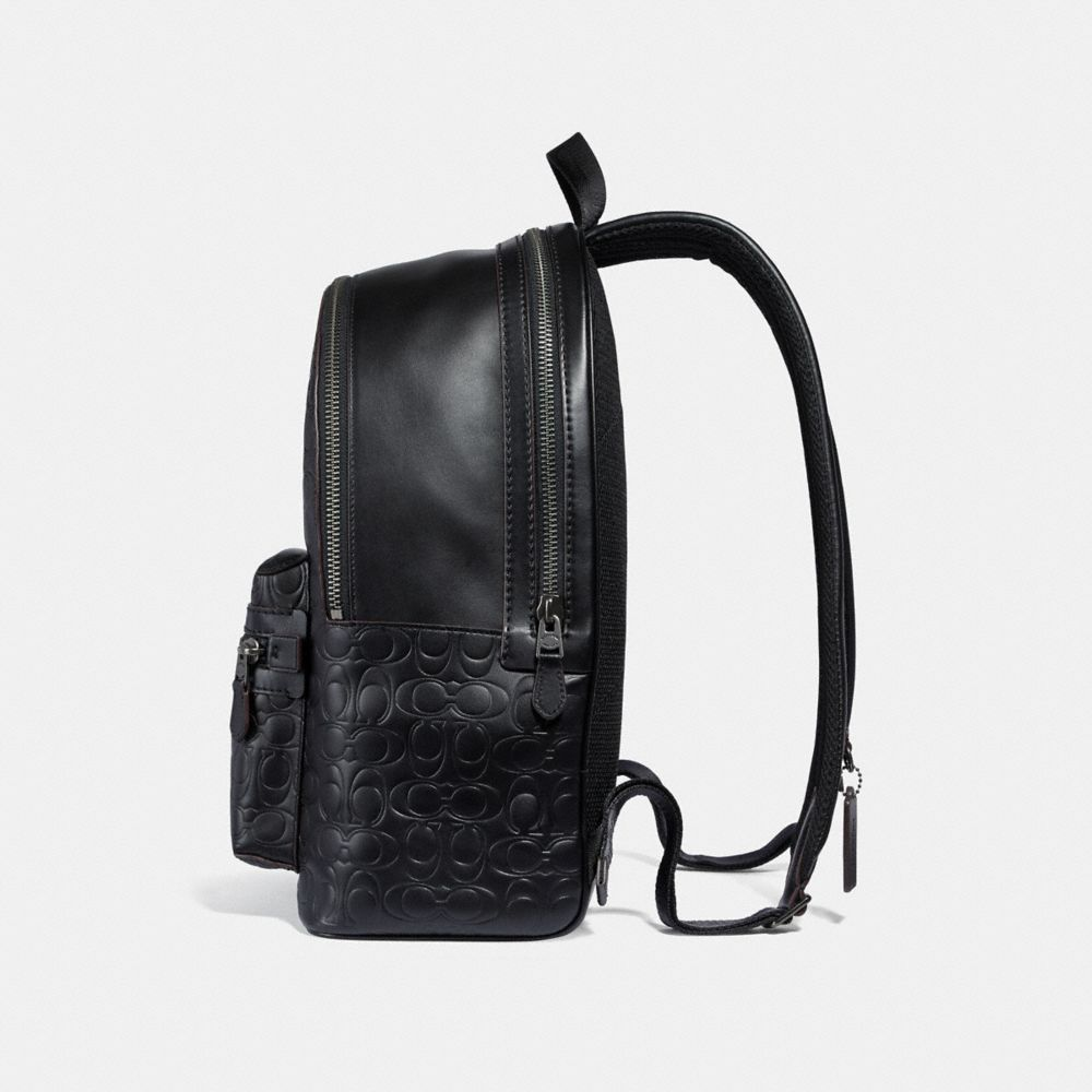 Coach Academy Backpack in Signature Leather Alternate View 1