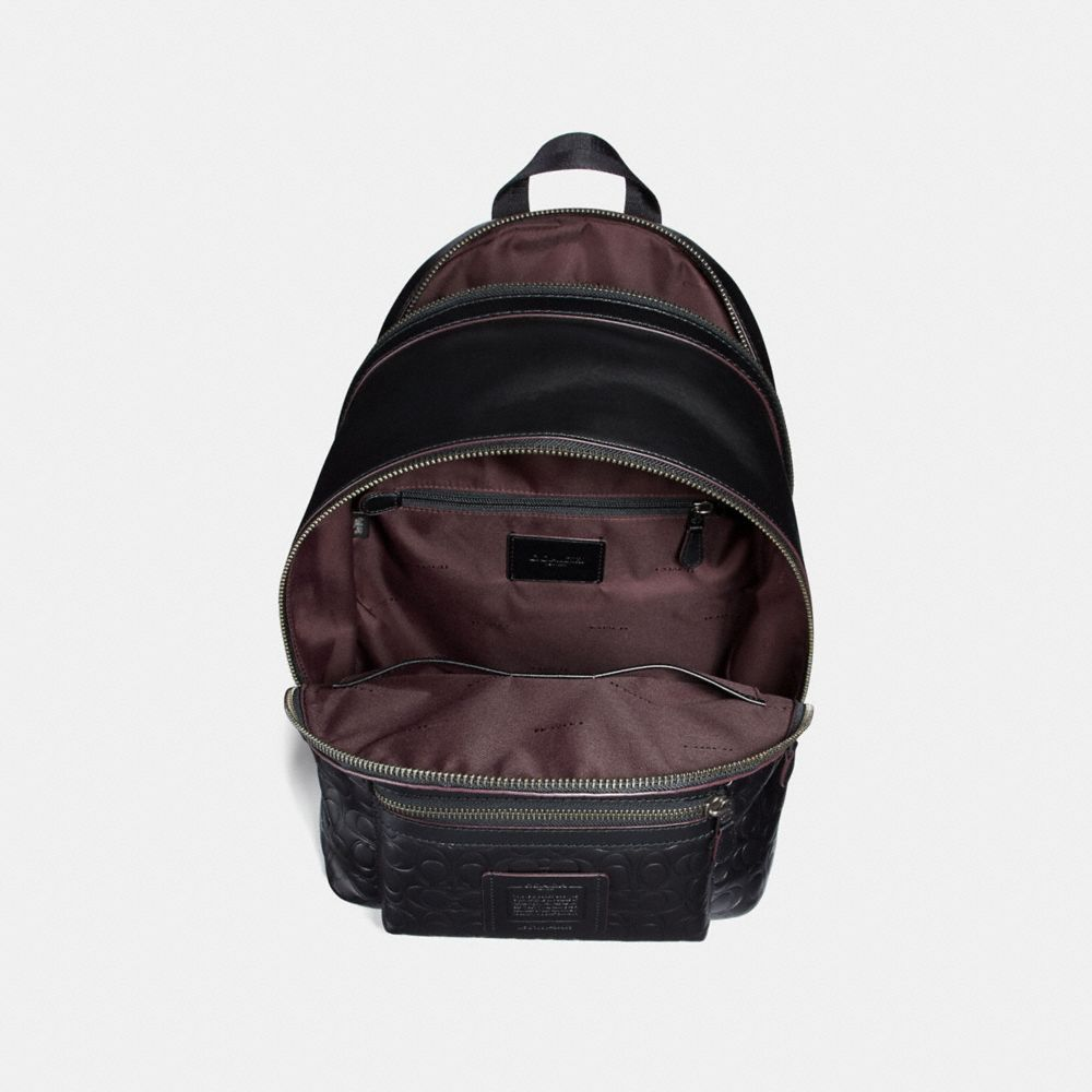 Coach Academy Backpack in Signature Leather Alternate View 2
