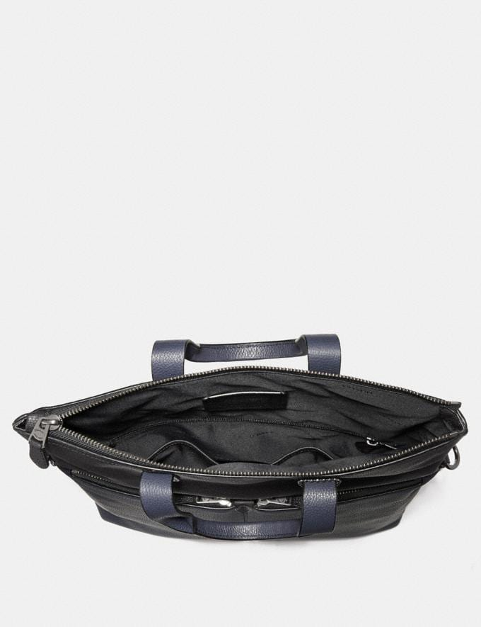 Coach Metropolitan Utility Tote in Colorblock Black Antique Nickel/Midnight Navy Black SALE Men's Sale Bags Alternate View 2