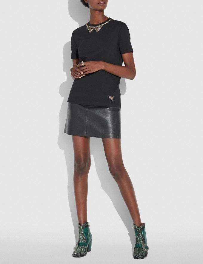Coach Embellished Collar T-Shirt Dark Shadow  Alternate View 2
