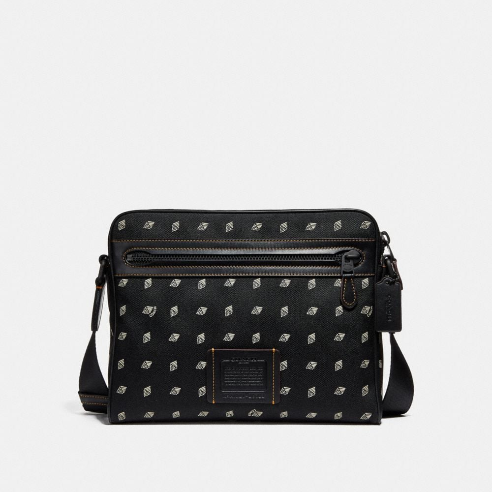 Coach Metropolitan Camera Bag in Cordura® Fabric With Dot Diamond Print