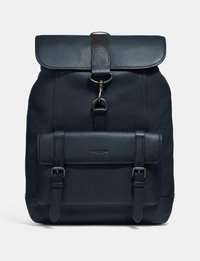 Coach Mochila Bleecker Midnight Navy/Black Copper Hombre Bolsos Mochilas