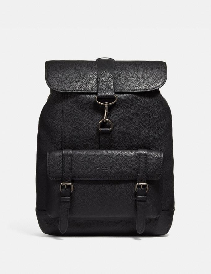 Coach Bleecker Backpack Black/Black Copper Finish Cyber Monday Men's Cyber Monday Sale Bags