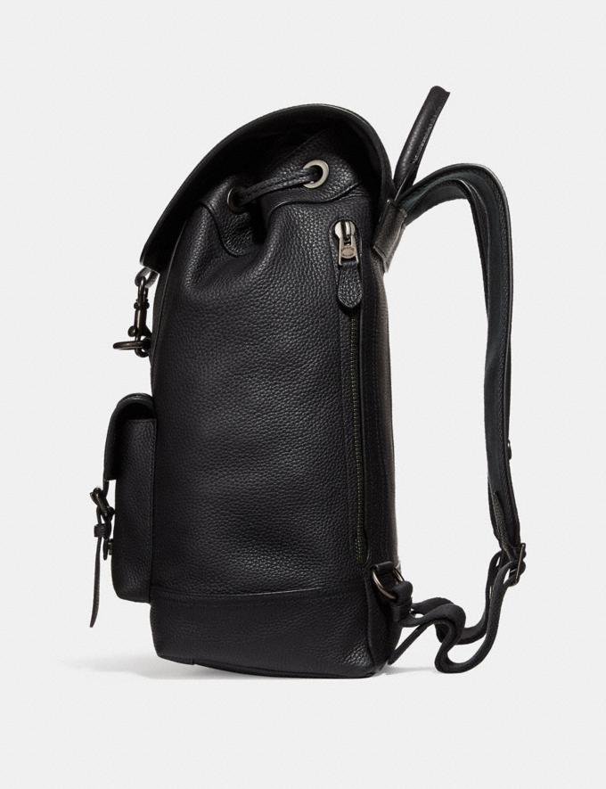 Coach Bleecker Backpack Black/Black Copper Finish New Men's New Arrivals Bags Alternate View 1