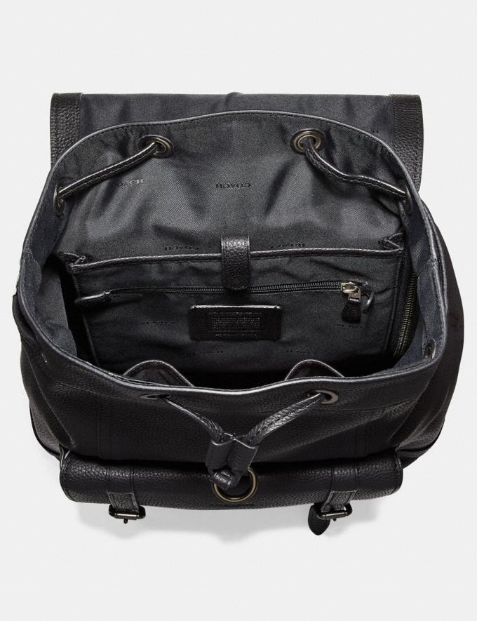 Coach Bleecker Backpack Black/Black Copper Finish New Men's New Arrivals Bags Alternate View 2