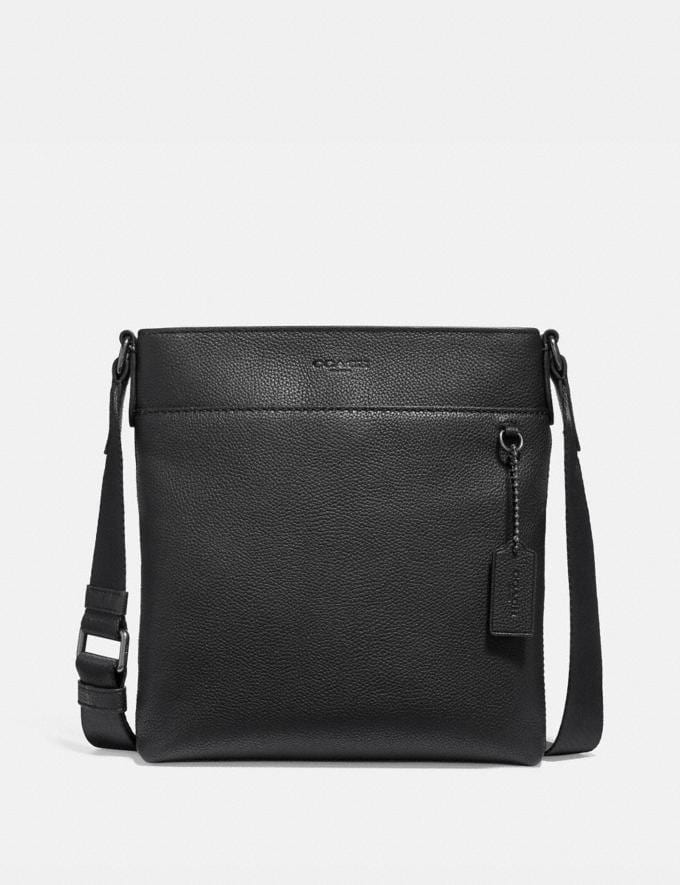 Coach Metropolitan Slim Messenger Black Antique Nickel/Black Black Friday Men's Cyber Monday Sale Bags