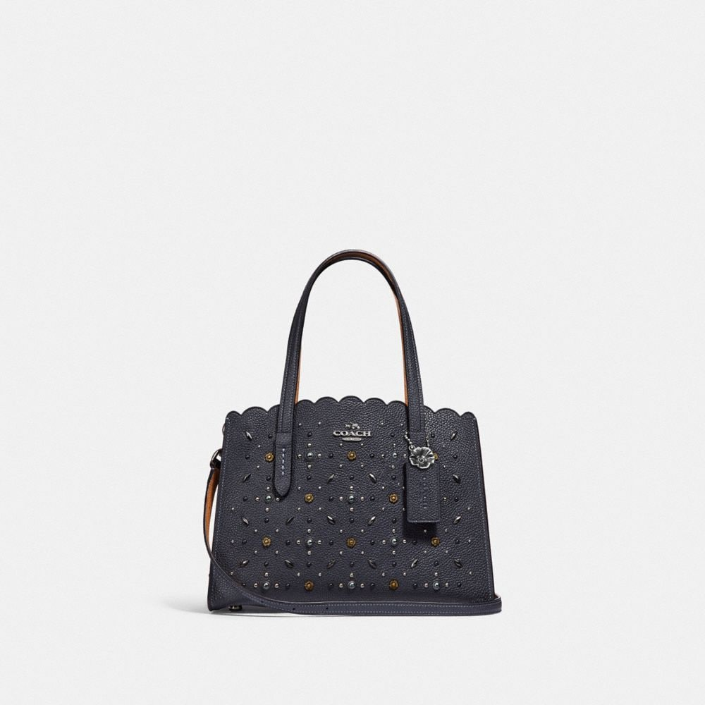 Tote - Prairie Rivets Charlie 28 Carryall Midnight Navy - blue - Tote for ladies Coach