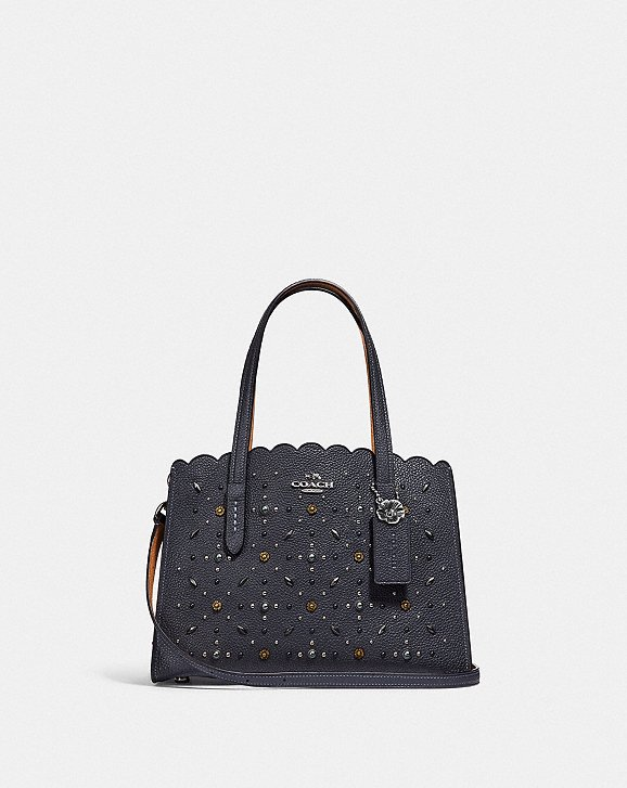 Tote - Prairie Rivets Charlie 28 Carryall Midnight Navy - blue - Tote for ladies Coach UELRbXinl