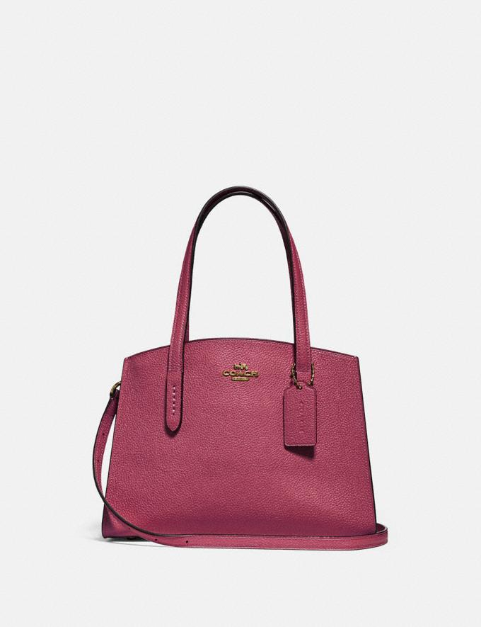 Coach Charlie Carryall 28 Gd/Dusty Pink Cyber Monday