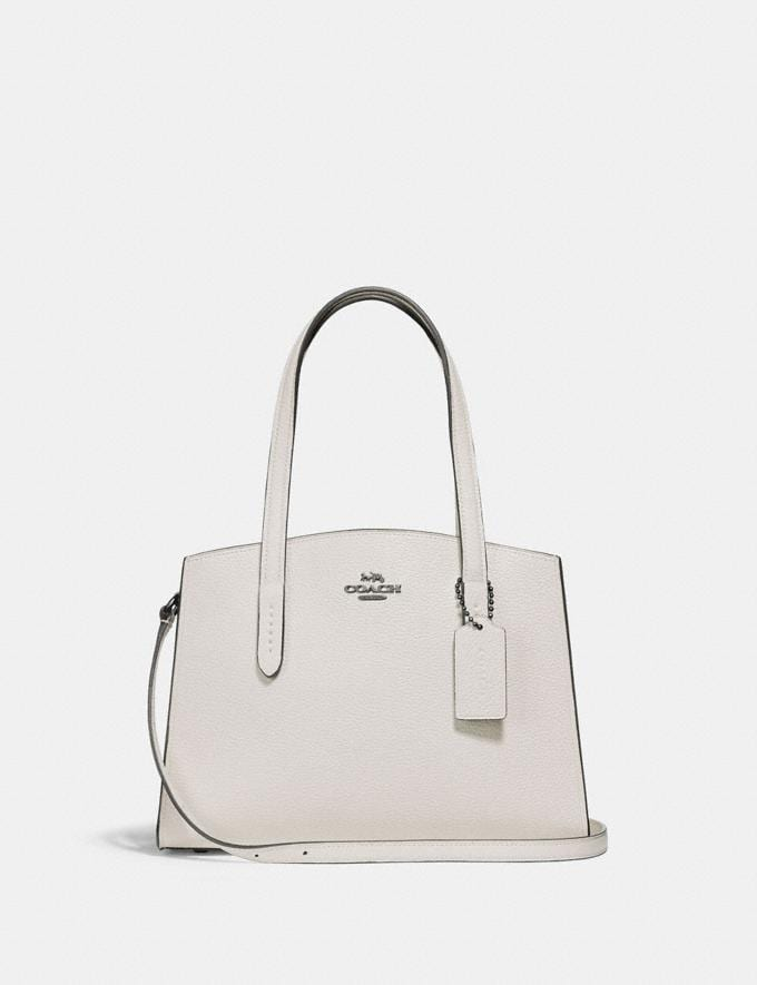 Coach Charlie Carryall 28 Gunmetal/Challk New Women's New Arrivals View All